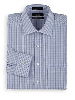 BLACK Saks Fifth Avenue - Gingham Button-Front Shirt/Modern Classic-Fit