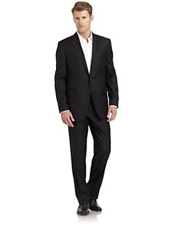 BLACK Saks Fifth Avenue - Pinstriped Wool Suit