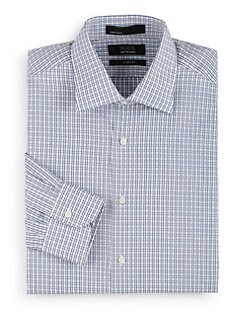 BLACK Saks Fifth Avenue - Gingham Cotton Button-Front Shirt/Slim-Fit