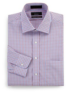 BLACK Saks Fifth Avenue - Modern-Fit Gingham Cotton Dress Shirt