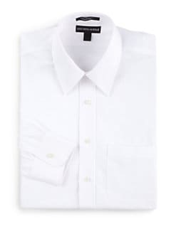 BLACK Saks Fifth Avenue - Classic Cotton Pique Dress Shirt