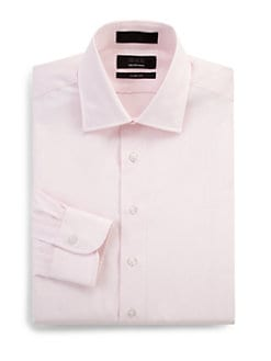 BLACK Saks Fifth Avenue - Cotton Pique Dress Shirt/Slim-Fit