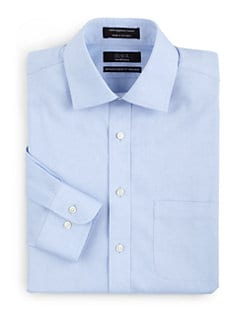 BLACK Saks Fifth Avenue - Modern Classic Non-Iron Cotton Dress Shirt