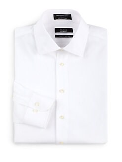 BLACK Saks Fifth Avenue - Non-Iron Cotton Dress Shirt/Slim-Fit