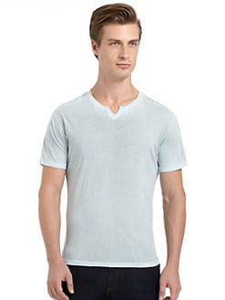 GRAY Saks Fifth Avenue - Slub Knit Cotton Tee