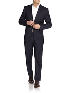 BLACK Saks Fifth Avenue - Two-Button Wool/Silk Suit