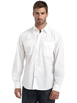 BLUE Saks Fifth Avenue - Chest Pocket Shirt