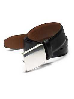 RED Saks Fifth Avenue - Glossy Leather Belt