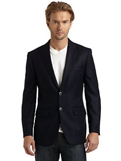 BLACK Saks Fifth Avenue - Two-Button Wool Jacket