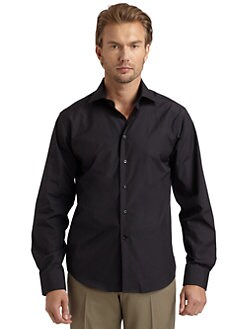 BLACK Saks Fifth Avenue - Slim Fit Twill Dress Shirt