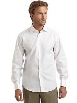 BLACK Saks Fifth Avenue - French Cuff Poplin Dress Shirt