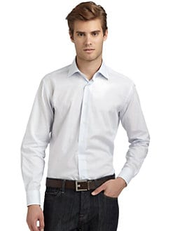 BLACK Saks Fifth Avenue - Checked Slim-Fit Shirt