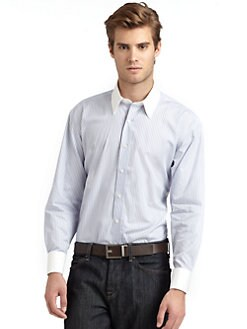 BLACK Saks Fifth Avenue - Contrast Modern Slim-Fit Shirt