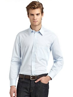 BLACK Saks Fifth Avenue - Striped Modern Slim-Fit Shirt