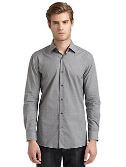 RED Saks Fifth Avenue - Checked Slim-Fit Shirt