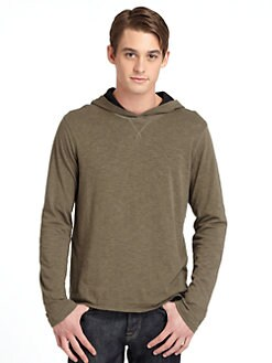 GRAY Saks Fifth Avenue - Double-Layer Hoodie