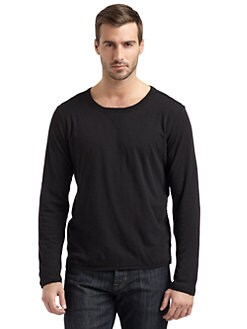 GRAY Saks Fifth Avenue - Double-Layer T-Shirt