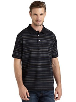 BLACK Saks Fifth Avenue - Ice Cotton Feeder Striped Shirt