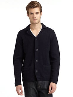 BLACK Saks Fifth Avenue - Notch Lapel Cardigan