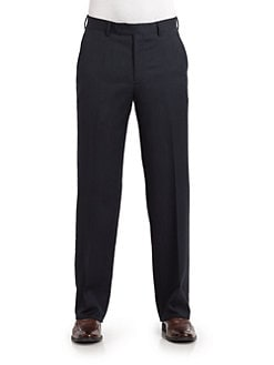 BLACK Saks Fifth Avenue - Wool Herringbone Pants
