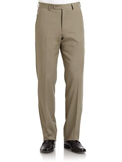 BLACK Saks Fifth Avenue - Wool Gabardine Pants