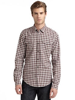 GRAY Saks Fifth Avenue - Western Checked Shirt