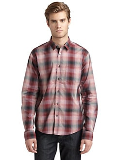 RED Saks Fifth Avenue - Checked Shirt