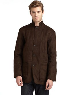 BLACK Saks Fifth Avenue - Faux Suede Quilted Jacket