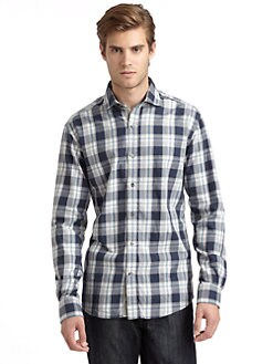 BLUE Saks Fifth Avenue - Plaid Shirt