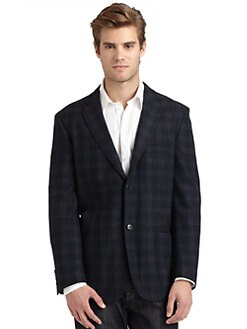 BLACK Saks Fifth Avenue - Plaid Blazer/Malibu