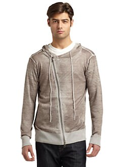 RED Saks Fifth Avenue - Merino Wool Faded Underprint Hoodie
