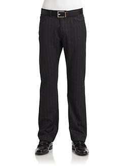 RED Saks Fifth Avenue - Tonal Checked Pants