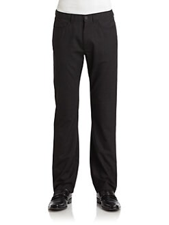 RED Saks Fifth Avenue - Tonal Cross Hatch Pants
