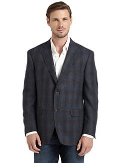 BLACK Saks Fifth Avenue - Muir Plaid Blazer/Blue