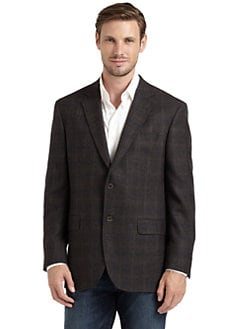 BLACK Saks Fifth Avenue - Muir Plaid Blazer/Brown