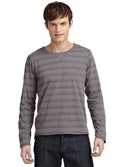 GRAY Saks Fifth Avenue - Reversible Double-Layer Crewneck Tee