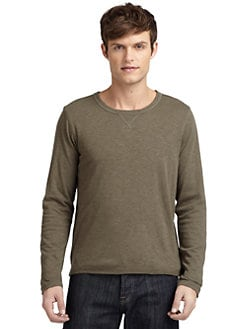 GRAY Saks Fifth Avenue - Double-Layer Crewneck Tee