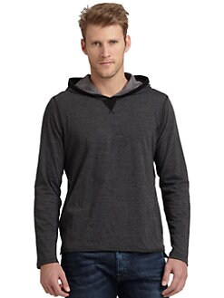 GRAY Saks Fifth Avenue - Reversible Double-Layer Hoodie