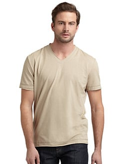 RED Saks Fifth Avenue - Raw Edge V-neck T-Shirt