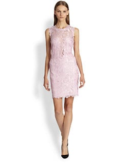 Emilio Pucci - Sleeveless Lace Illusion Dress
