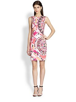 Emilio Pucci - Sleeveless Signature-Print Sheath Dress