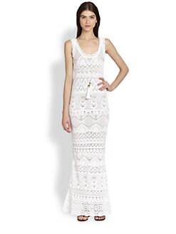 Emilio Pucci - Sleeveless Crochet-Knit Maxi Dress