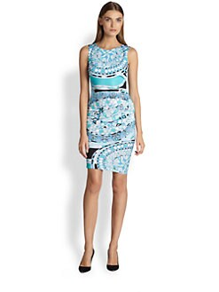 Emilio Pucci - Capri-Print Sheath Dress