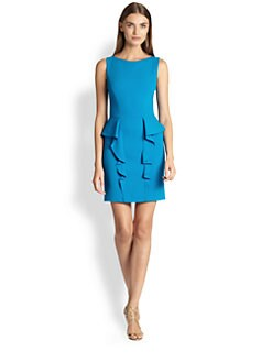 Emilio Pucci - Sleeveless Ruffled-Peplum Dress