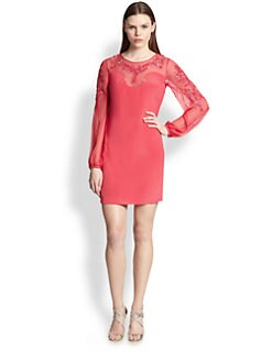 Emilio Pucci - Sequined Silk Cady & Chiffon Dress