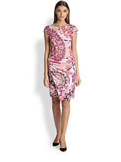 Emilio Pucci - Cap-Sleeve Printed Jersey Dress