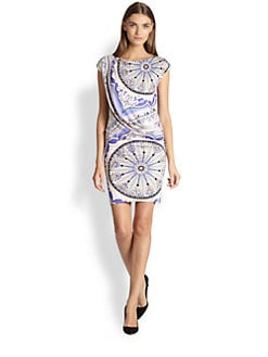 Emilio Pucci - Pavimento-Print Cap-Sleeve Dress