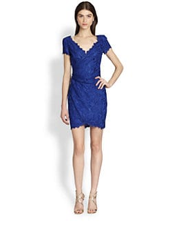 Emilio Pucci - Short-Sleeve Lace Dress