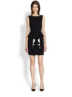 Emilio Pucci - Sleeveless Stretch-Wool Peplum Dress