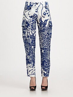 Emilio Pucci - Croc Print Silk Pants